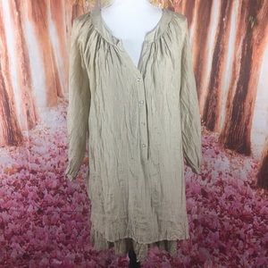 Soft surroundings embroidered silk tunic